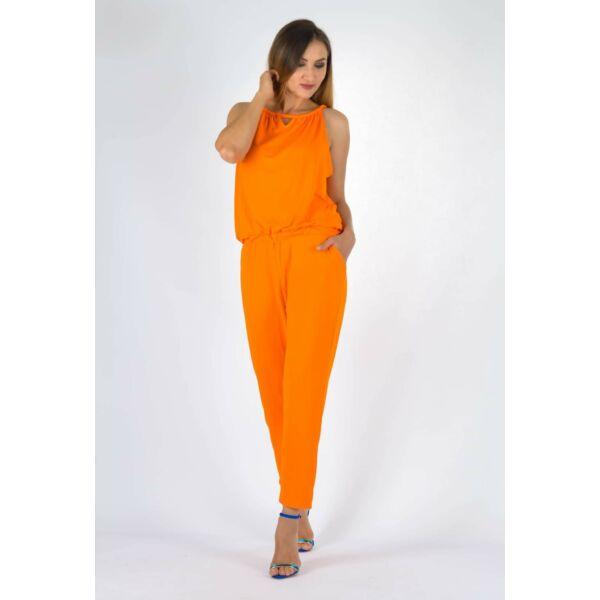 Nyakba kötős  narancssárga  overáll
