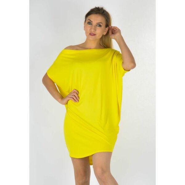 Félvállas bő fazonú sárga   tunika