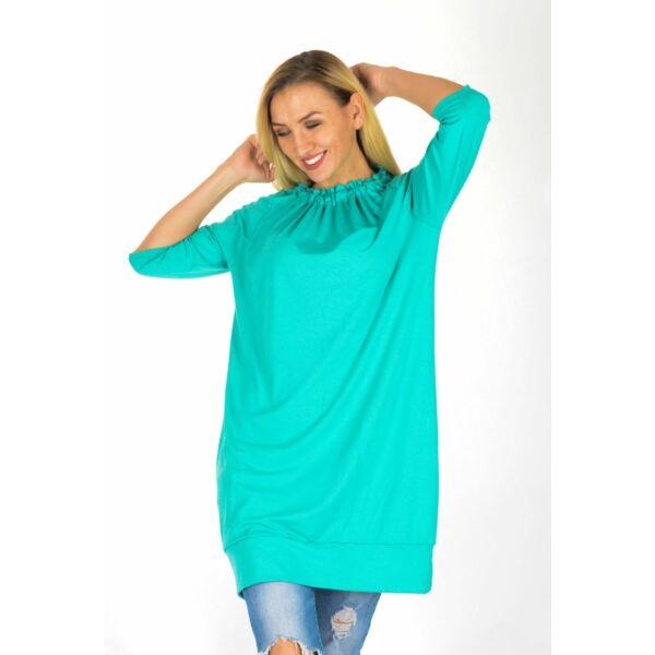 Nyakán húzott zöld ruha/tunika