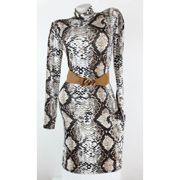 Kígyó mIntás félgarbós ruha