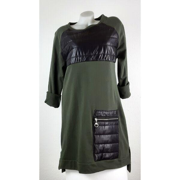Egyedi tűzött khakizöld ruha/tunika