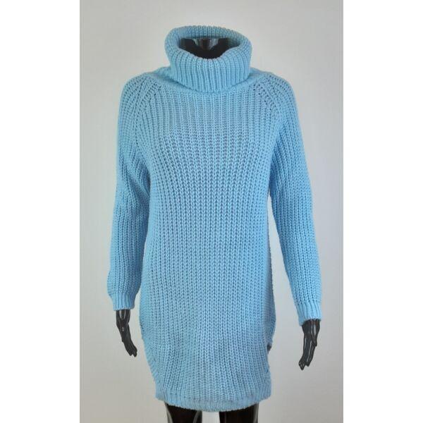 Magasnyakú világoskék pulóver