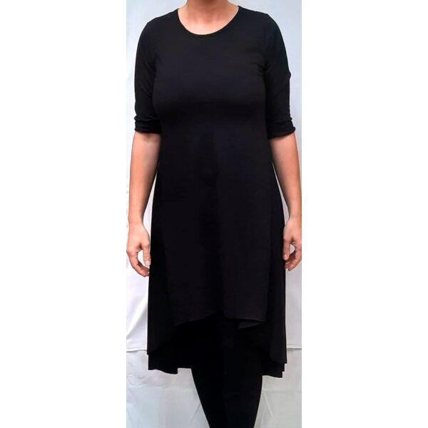 Fekete aszimetrikus aljú ruha