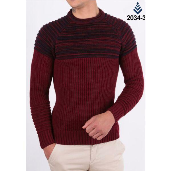 Bordó  Madmext-kötött pulóver