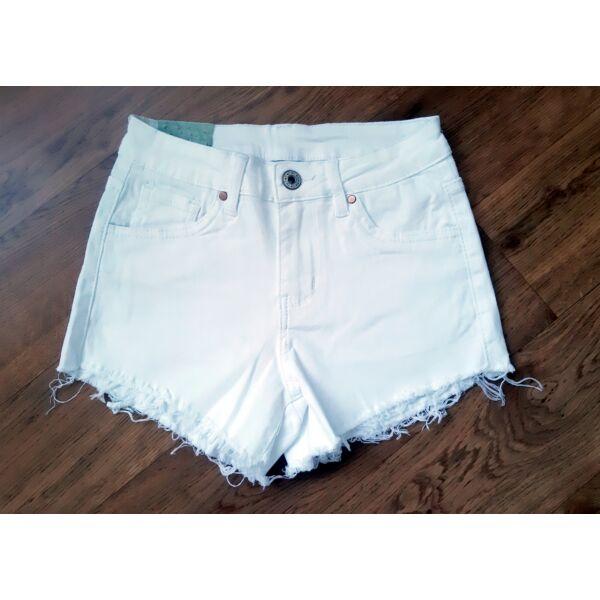 Fehér farmer rövid nadrág