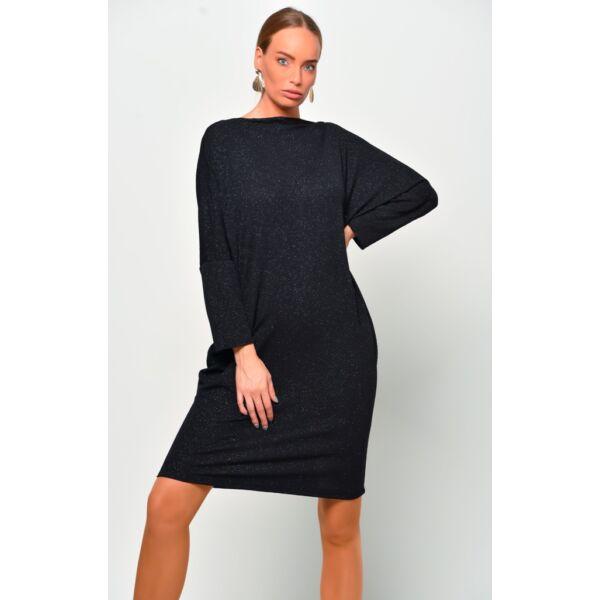 Csillámos fekete ruha