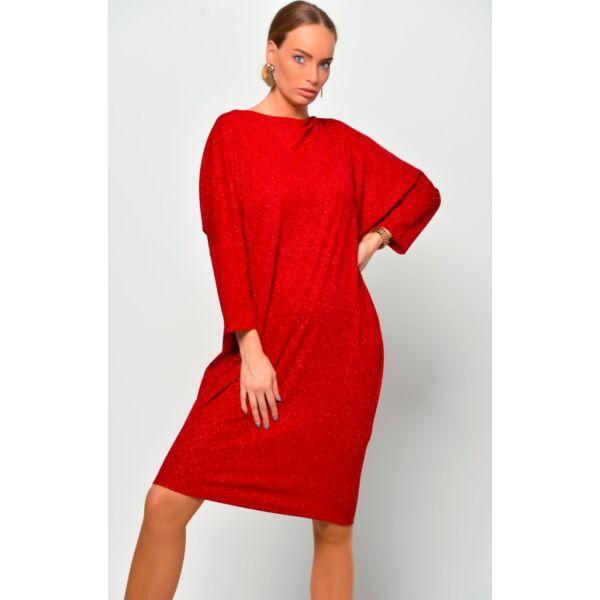 Csillámos piros ruha