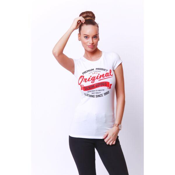 Fehér Original nyomott mintás póló