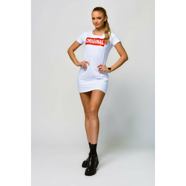 Original fellratos fehér póló ruha
