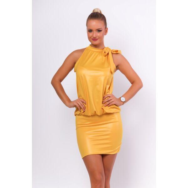 Latex hatású sárga ruha