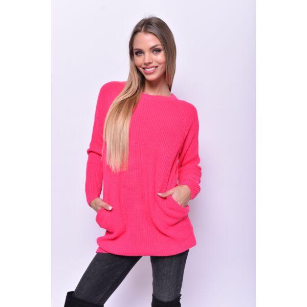 Pink Zsebes kötött pulcsi