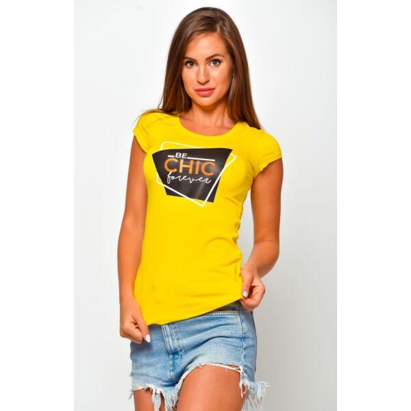 Nyomott  mintás sárga  póló