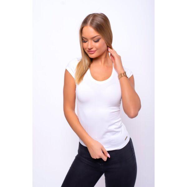 Fehér egyszerű pamut póló
