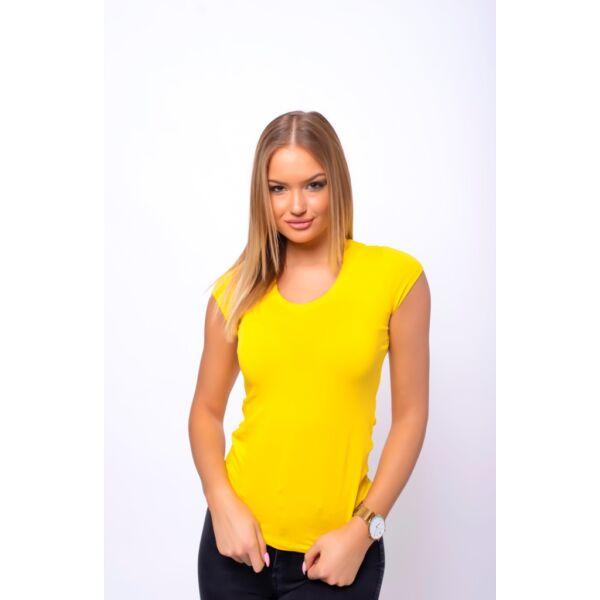 Sárga egyszerű pamut póló