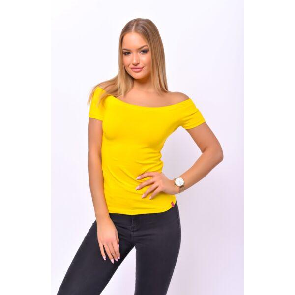 Váll nélküli sárga felső