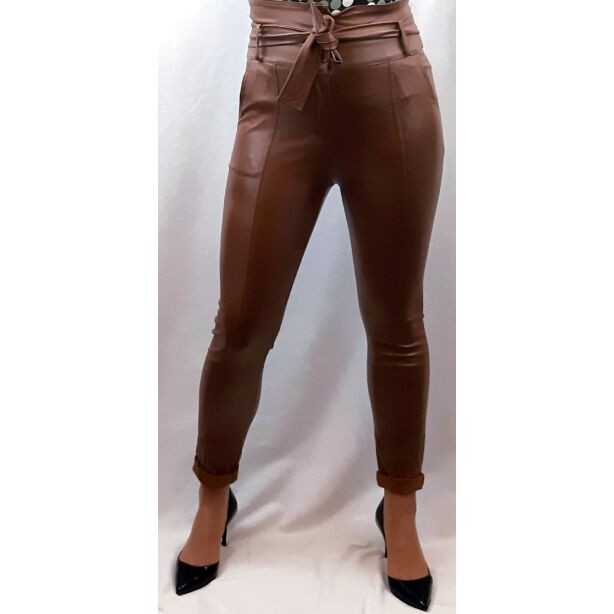 Műbőr barna nadrág