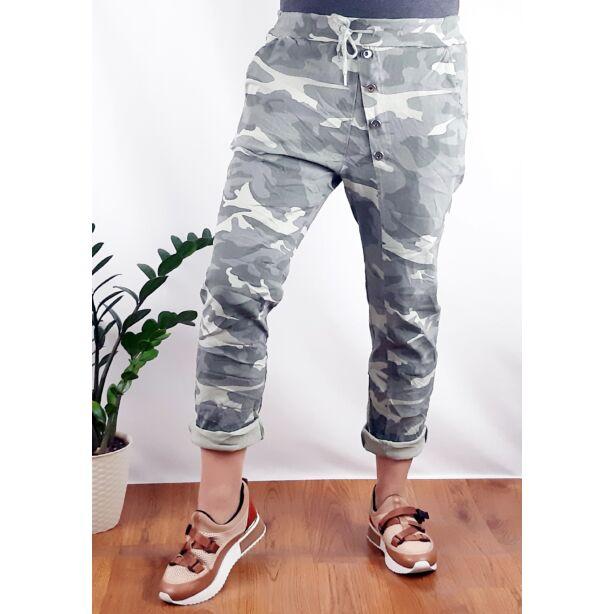 Terepmintás elasztikus nadrág