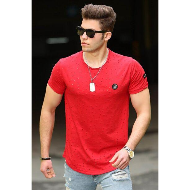 Lyukacsos piros póló