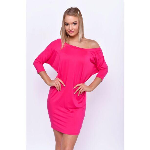 Pink fél vállas ruha