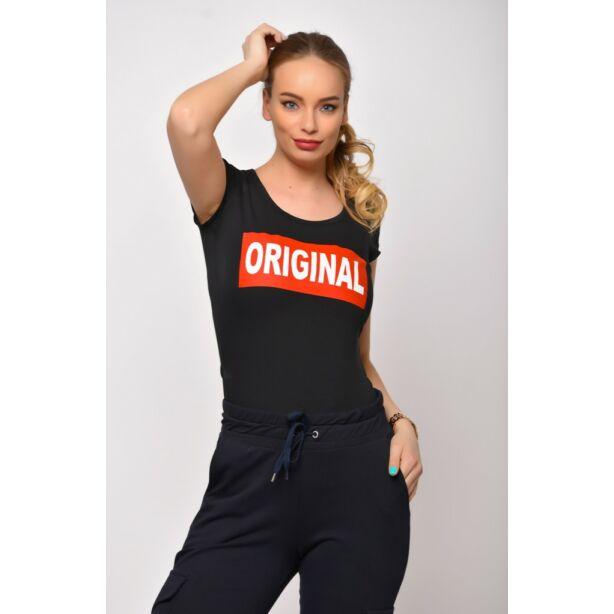 Original  nyomatos fekete póló