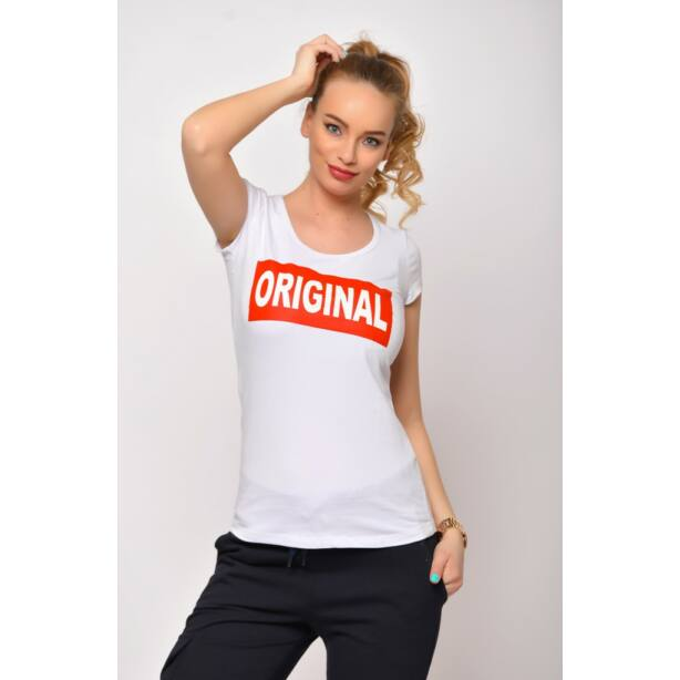Original  nyomatos fehér póló