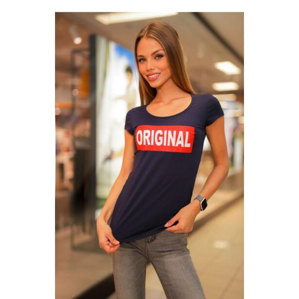 Original  nyomatos sötétkék póló