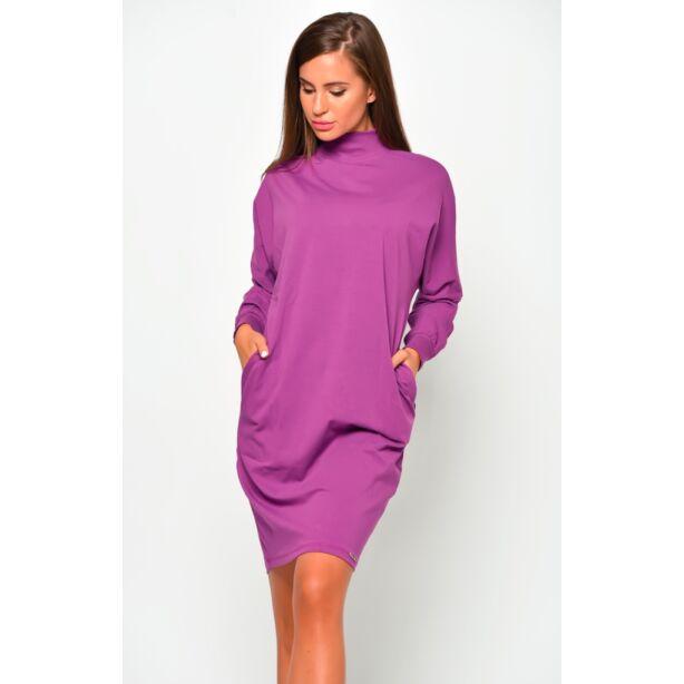 Félgarbós lila ruha