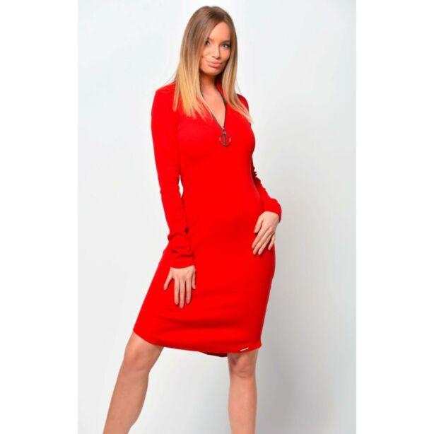 Cipzáros piros ruha