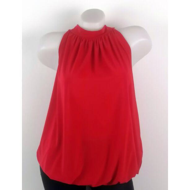 Piros nyakbakötös felső