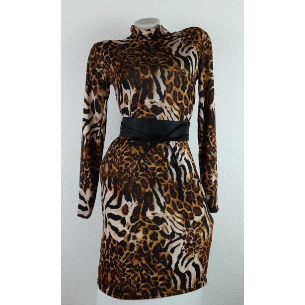 Tigris mintás félgarbós ruha