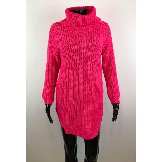 Magasnyakú pink pulóver