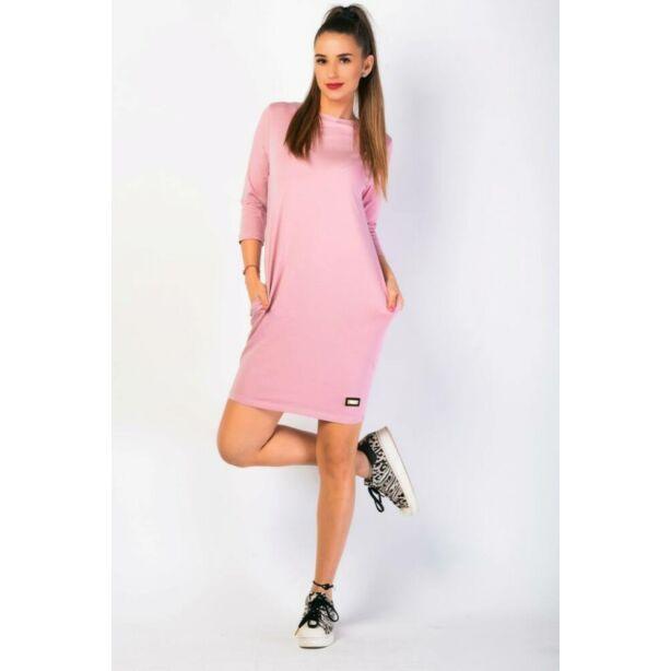 Oldalzsebes mályva színű mini ruha