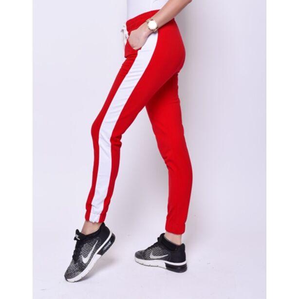 Piros szabadidő nadrág