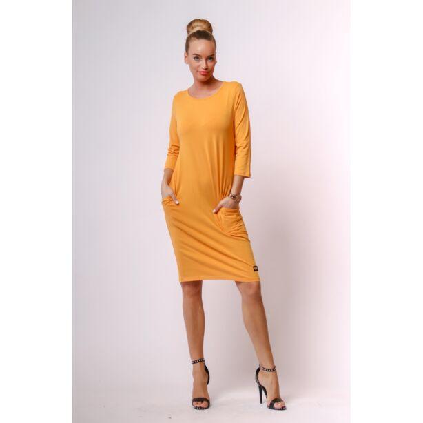 Mustár sárga midi ruha