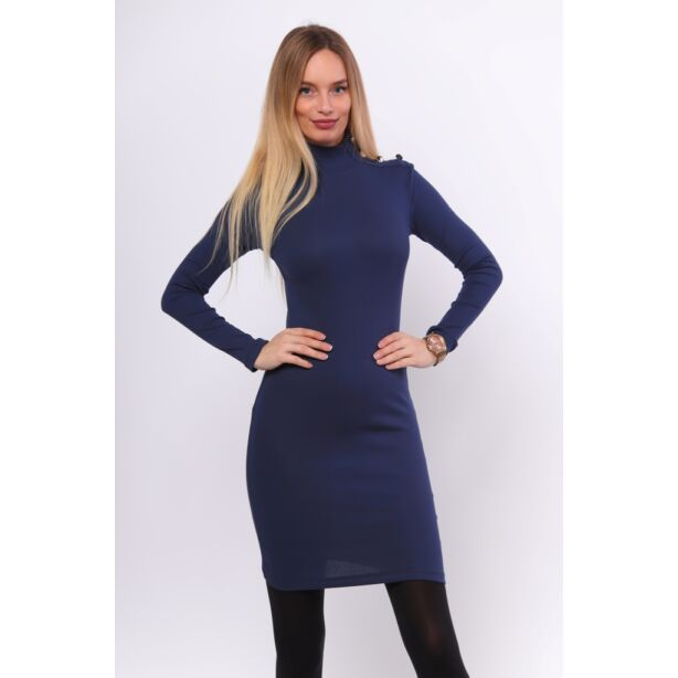 Sötét kék mini ruha