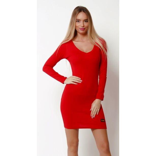 Pamut piros mini ruha