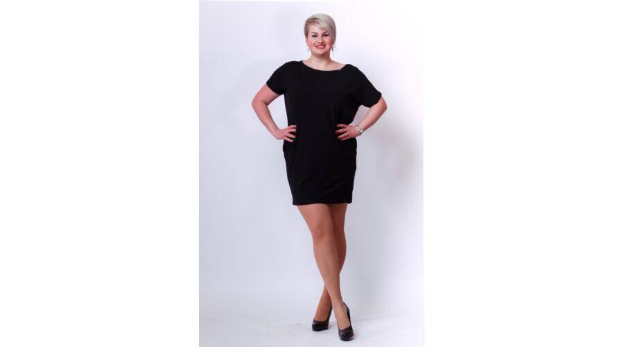 ae5ad85ef0 Fekete plus size ruha - Női ruhák